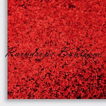 Chunky Red Glitter Fabric